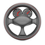 Steering wheel with dashboard Royalty Free Stock Photo