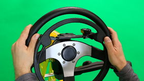 Steering wheel for disabled stock video
