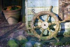 Steering wheel in the garden Stock Image