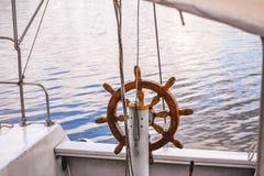 Steering wheel Handwheel ship close up Stock Image