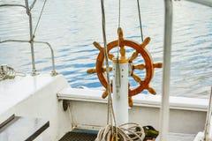 Steering wheel Handwheel ship close up Stock Images