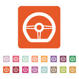 The steering wheel icon. Auto symbol. Flat Stock Images