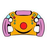 Steering wheel icon, icon cartoon. Steering wheel icon in icon in cartoon style isolated vector illustration Royalty Free Stock Photos