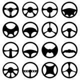 Steering wheel icons set Stock Image