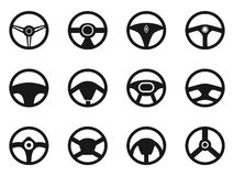 Steering wheel icons set Stock Photo