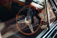 Steering wheel inside auto Stock Image