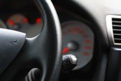Steering wheel inside car Royalty Free Stock Image
