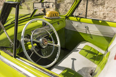 Steering wheel and interior vintage Chevrolet Havana Royalty Free Stock Photos