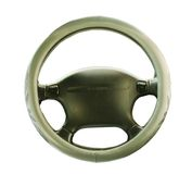Steering wheel isolated Stock Photo
