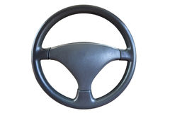 Steering wheel isolated on white background Royalty Free Stock Photography