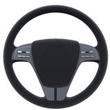 Steering Wheel Isolated on White Background Royalty Free Stock Photo