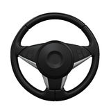 Steering Wheel Isolated. On white background. 3D render Royalty Free Stock Images