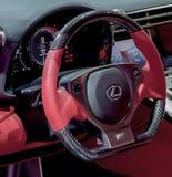 Steering Wheel of Lexus LFA.  Stock Photos