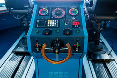 Steering Wheel on a Luxury Cruise Ship Royalty Free Stock Photos