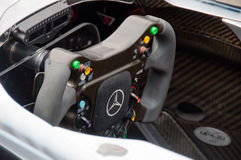 Steering wheel of Mercedes Formula 1 car Stock Photography