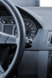 Steering wheel in a modern car. Detail Stock Images