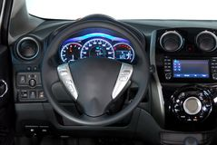 Steering wheel. In the new modern car Stock Photography