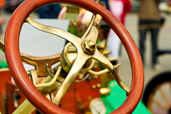 Steering wheel of an old car Stock Image