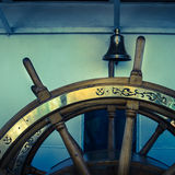 Steering wheel of an old sailing vessel Royalty Free Stock Photo