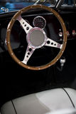 Steering wheel of an oldtimer Royalty Free Stock Photos