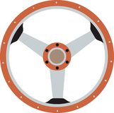 Steering wheel orange Stock Photos