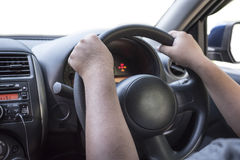 Steering wheel and other devices of car Stock Images