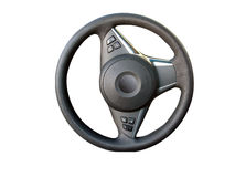 Steering wheel with path Royalty Free Stock Photo