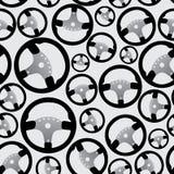 Steering wheel pattern eps10 Royalty Free Stock Photo