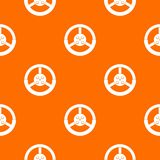 Steering wheel pattern seamless. Steering wheel pattern repeat seamless in orange color for any design. Vector geometric illustration Stock Images