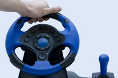 Steering wheel for players Stock Image