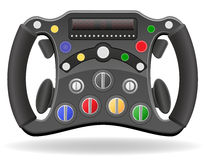 Steering wheel of racing car vector illustration EPS 10. Isolated on white background Stock Photos