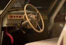 Steering wheel retro car Royalty Free Stock Images