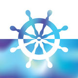 Steering wheel rudder - ship steering Stock Image