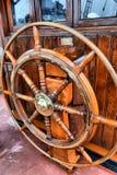Steering wheel sailboat Stock Image