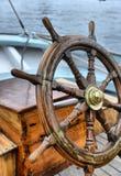 Steering wheel sailboat Royalty Free Stock Image
