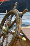 Steering wheel sailboat Royalty Free Stock Images