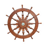 Steering wheel of sailing boat cutout Stock Image