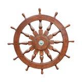 Steering wheel of sailing boat cutout Stock Image