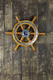 Steering wheel of sailing-ship Royalty Free Stock Images