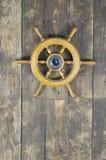 Steering wheel of sailing-ship Stock Image