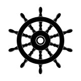Steering wheel of a ship. vector. Steering wheel of a ship, boat and yacht isolated on white background. rudder direction concept. nautical or travel symbol Stock Image