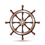 Steering wheel for ship Royalty Free Stock Photo