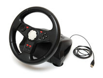 Steering wheel simulator for pc games Royalty Free Stock Images