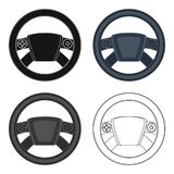 Steering wheel single icon in cartoon,outline,black style for design.Car maintenance station vector symbol stock Stock Photos