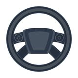 Steering wheel single icon in cartoon style for design.Car maintenance station vector symbol stock illustration web. Steering wheel single icon in cartoon style Royalty Free Stock Photography