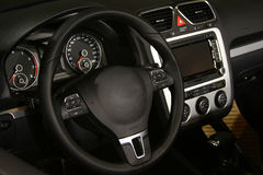 Steering wheel & speedometer, tachometer Royalty Free Stock Photos