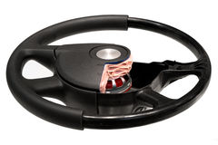 Steering wheel with SRS Royalty Free Stock Photos