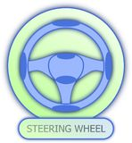 Steering wheel symbol and icon. Commercial icons and symbols of car parts - Steering Wheel Stock Photos