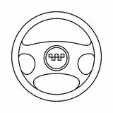 Steering wheel of taxi icon, outline style Royalty Free Stock Images