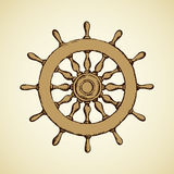 Steering wheel. Vector drawing Stock Photography